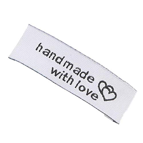 100pcs Rectangle Tags Knitting Tags Labels Tags Handmade Sewing Craft for Clothing Accessories