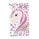 Unicornio y Estrellas Pegatinas De Pared, Etiqueta de Vinilo Infantil para Sala Dormitorio Habitación de Niños Niñas Pegatinas DIY