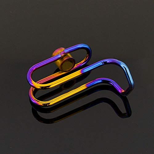 HANLING- Motorcycle Elektrische Scooter RVS Hook Wijziging Verbrande Titanium for Hook Universal (Color : Multi color)