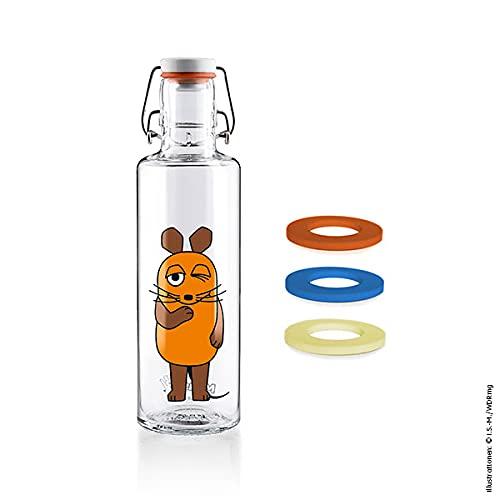 soulbottles Juego: botella con diseño de ratón y gomas a juego.