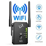 VICTONY WiFi Range Extender Up to 300Mbps, WiFi Signal Booster, 2.4 & 5GHz Dual Band WiFi Repeater with Access Ethernet Port