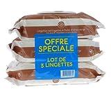 Gifrer Lingettes Nettoyantes à l'Huile d'Olive Vierge - Lot de 3 paquets de 70 Lingettes