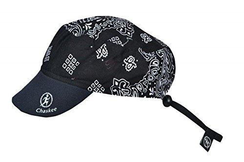 Chaskee omkeerbare cap Cashmere met neopreen schild (omkeerbare muts, UV 80), kleur: zwart
