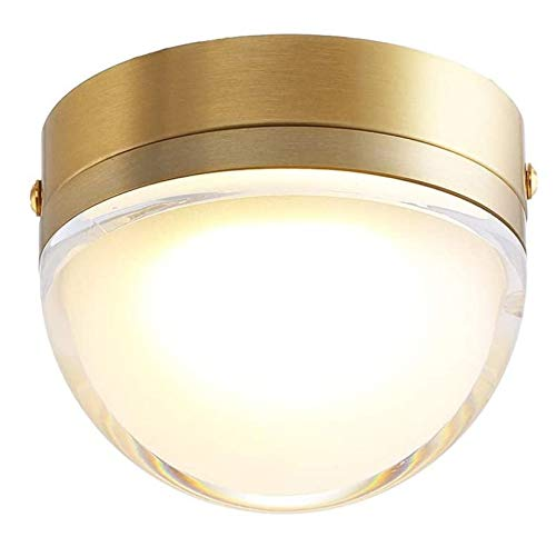 HJQL Lámpara Techo Oro Cepillado con Luz Empotrada para Interiores,Lámpara Techo Tipo Candelabro Ahorro Energía con Clasificación Fuego,Lámpara Acento para Exhibición Imágenes con Pantalla Vidrio