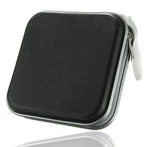 REALMAX® DVD Storage wallet Portable 40 Disc CD Plastic Bag Case water resistant Organizer (Black)