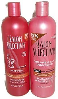 Salon Selectives Volume & Body Shampoo & Conditioner Set 22.5 oz For Bouncy Full Hair