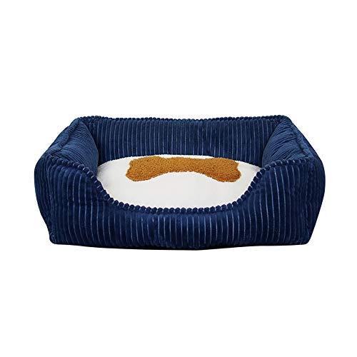 Kleine middelgrote hondenmandvoor grote honden corduroy Wasbare zachte kennel Hondenbakvulling Diepe slaap Comfortabele kattenbedden