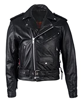 Hot Leathers Classic Motorcycle Jacket with Zip Out Lining
