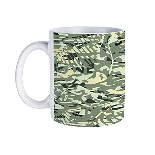 Koffie Mok Naadloze Patroon van Camouflage Kleur voor Kleding Uniformen Vector Vector Gift voor Moeder vader Grootmoeder Vrouwen Mannen Zus Broer Vriend Coworker Boss Man Dochter Tante Raar Decor Keramische