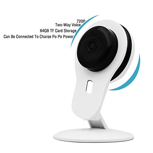 Pinkbenmus - Wireless Surveillance Camera/Conectar Carga Po Po Potencia, Cámara De vigilancia para Bebes, Voz de Dos vías, Reducción de Ruido de Eco 3D