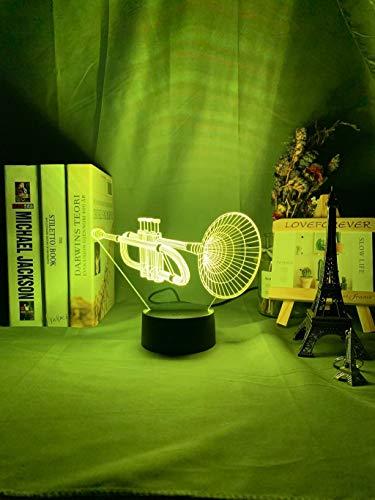 Acryl 3D Illusion Baby Nachtlicht Musikinstrument LED Sensor Touch Farbwechsel Nachtlicht für Zimmerdekoration 3D Hornet