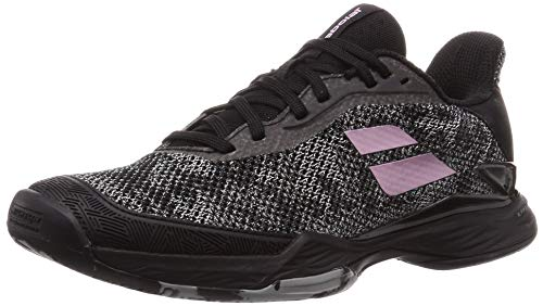 Babolat Women`s Jet Tere All Court Tennis Shoes Black and Pink (9.5)