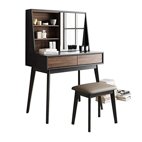 PIJN Frisierkommode Makeup Table Frisierkommode Nordic Master-Schlafzimmer Kleines Apartment Ins Net Red Frisierkommode Mini Simple Storage Für Schlafzimmer Make-up Schmuckaufbewahrung Set
