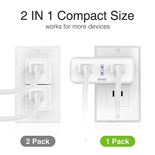 Smart Plug Works with Alexa and Google Home, Gosund 2 in 1 WiFi Outlet Plug, 8 Sockets, Smart Outlet Plug, Remote Control, Timer and Schedule Function, No Hub Required, 10A (4 Pack)