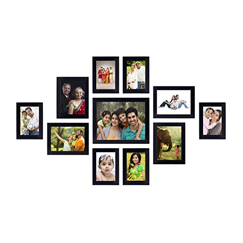 Solimo Collage Photo Frames (Set of 11, Supports Wall Hanging)