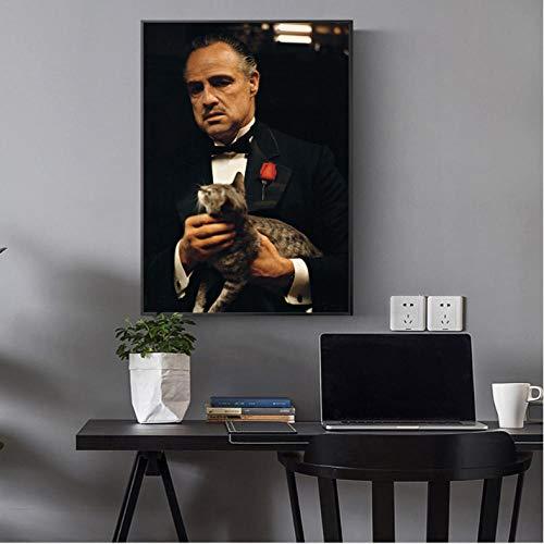 Ölgemälde Poster und Kunstdrucke Wandbilder Moderne Kunst Leinwandbilder Portrait of Godfather Pictures-60cmx70cm