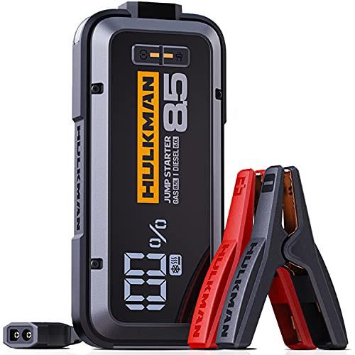 HULKMAN Alpha85S Jump Starter 2000 Amp 20000mAh Car Starter with Pre-Heat Tech Lithium Portable Car Battery Booster Pack for up to 8.5 Liter Gasoline and 6 Liter Diesel Engines