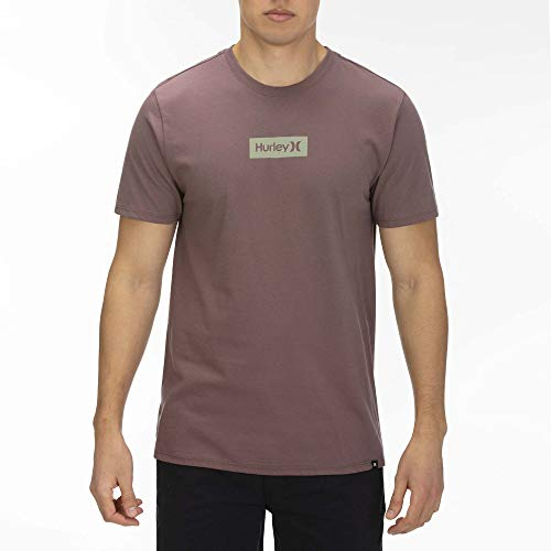 Hurley M O&O Small Box S/S Tee Shirts Homme, Plum Eclipse, FR : L (Taille Fabricant : L)