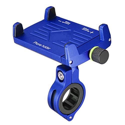 WXGZS Wiederaufladbare Handy-Halterung, Reitausrüstung Navigationshalterung Für Motorradlenker Handyhalterung Passend Für 3,6 Bis 6,5 Zoll Smartphones,Blau