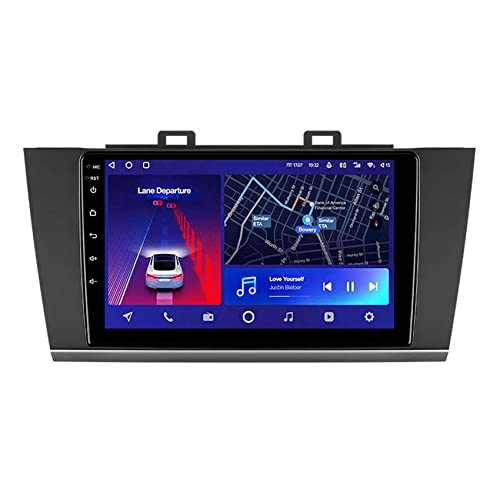 ADMLZQQ Android 10 Radio para Subaru Outback 5 2014-2018 Legacy 6 2014-2017 Estéreo Bluetooth/Navi GPS/Espejo Enlace 4G WiFi DSP Control del Volante Cámara Trasera,8core WiFi+4g: 6+128g