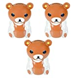 Kicko Bear Bank - Pack of 3, 5.5 Inch Hard Plastic Teddy Coin Bank - Perfect Party Favor and Supply, Room Decor, Educational Toy for All Ages