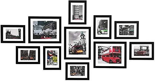 格木致尚 フォトフレーム 写真フレーム 11枚セット 額 額縁 壁掛け 木製  ウォールアート 北欧 (11枚...