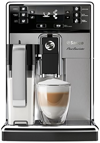 Saeco picobaristo super automatic espresso machine, 1. 8 l, stainless steel, hd8927/47 19 easily select one of 15 delicious drinks, or customize it to your taste with coffee equalizer and save it to one of 6 user profile our patented aquaclean water filter eliminates the need to descale for up to 5,000 cups get superior taste for 20,000 cups with our durable ceramic grinders