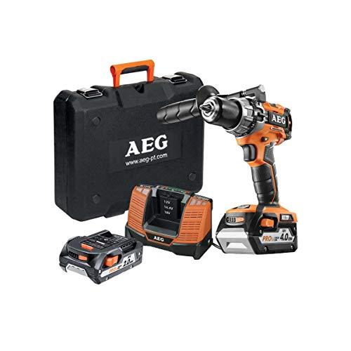 Trapano a percussione brushless AEG 18V - 1 batteria 2.0Ah - 1 batteria 4.0Ah - caricabatterie BSB18C2BLL-X02C