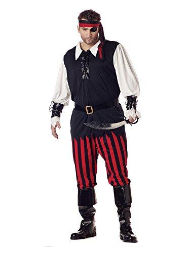 California Costumes 01611 - Piratenkostüm für Herren Pirat Seeräuber Freibeuter Kostüm Übergröße 3XL