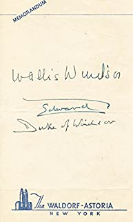 King Edward VIII - Signature co-signed By: Duchess Of Windsor (Wallis Simpson)