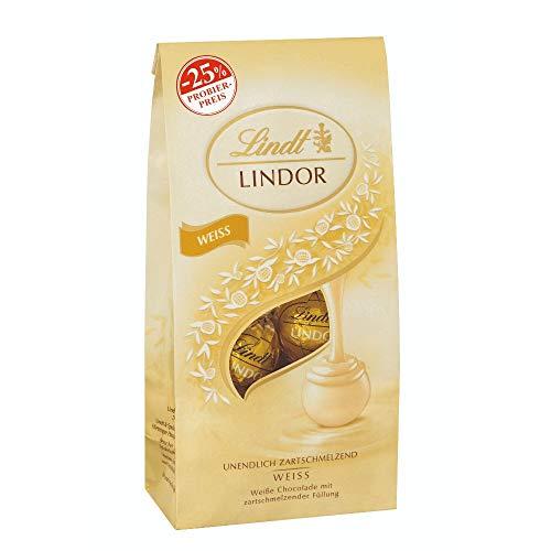 LINDOR Weiße Schokoladenkugeln, Promotion, 4er Pack (4 x 136 g)