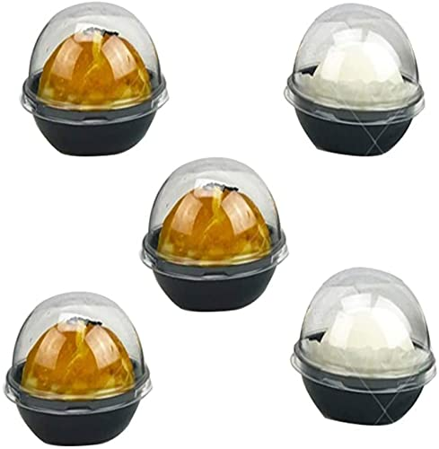 50 Set Clear Plastic Mini Cake Box, Reusable Muffins Box Cookies Muffins Dome Box Gift Box for Wedding Birthday