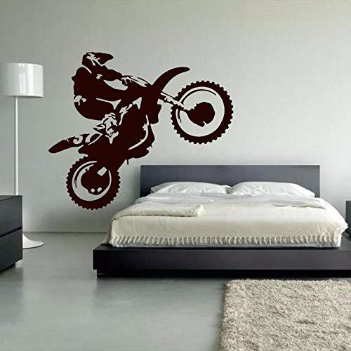 Tianpengyuanshuai Motocross Vinyl Wandtattoo Kunst Wandkünstler Home Nachttisch Aufkleber 49X42cm