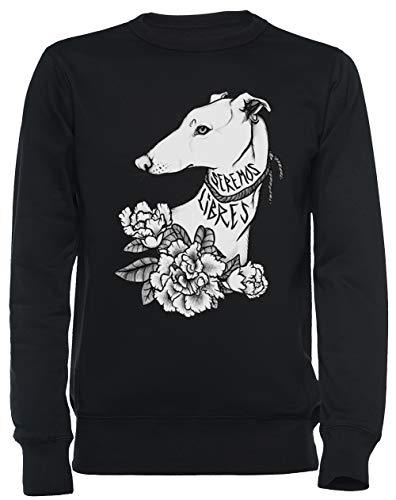 Vendax Seremos Libres - Greyhound Unisex Felpa Nero