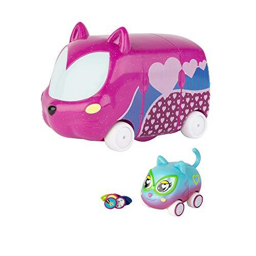 """Tomy 46829 - Juego de 1 minijuego, 1 personaje exclusivo y 16 abalorios de los cuales 6 """"sorpresas"""" en el interior del maletero, color morado , color/modelo surtido"""