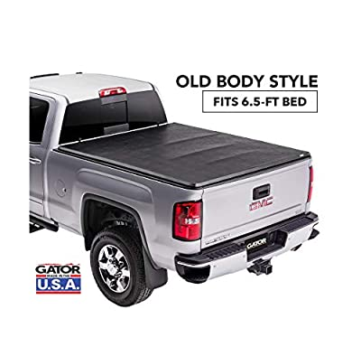 "Gator ETX Soft Tri-Fold Truck Bed Tonneau Cover | 59110 | Fits 2014 - 2018, 2019 Ltd/Lgcy Chevy/GMC Silverado/Sierra 1500 6'6"" Bed 