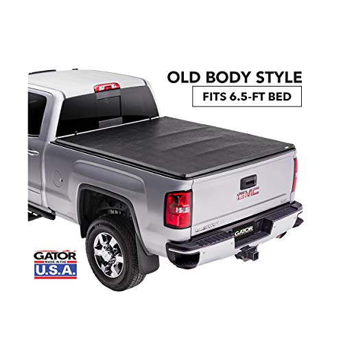 Gator ETX Soft Tri-Fold Truck Bed Tonneau Cover | 59110 | Fits 2014 - 2018, 2019 Ltd/Lgcy Chevy/GMC Silverado/Sierra 1500 6'6' Bed | Made in the USA