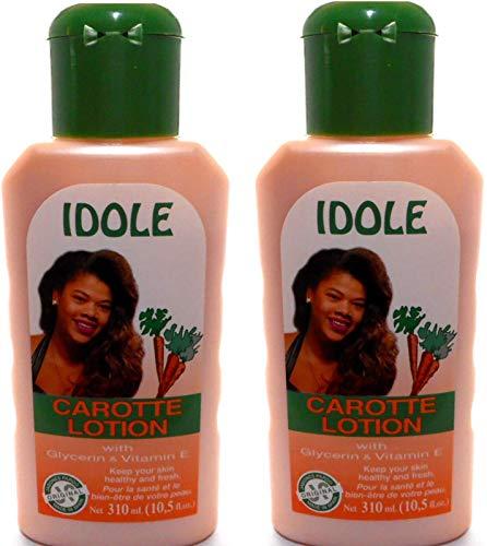 Idole Carotte Lotion With Glycerin and Vitamin E Set of 2 10.5 fl. oz.