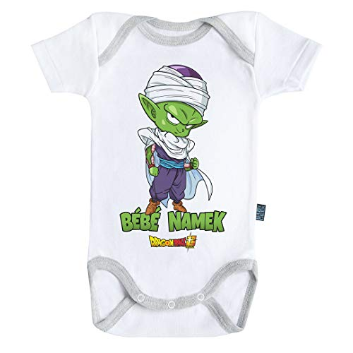 Baby Geek Bébé Namek Piccolo - Body de manga corta para bebé con licencia oficial blanco 6-12 Meses