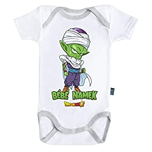 Baby Geek Bebé Namek Piccolo Dragon Ball Super TM - Body para bebé de manga corta blanco 6 - 12 Meses