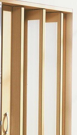 Zusatzlamelle für Falttür New Generation Fb. Buche - Fenster türkis-satiniert B 14 x H 205 cm