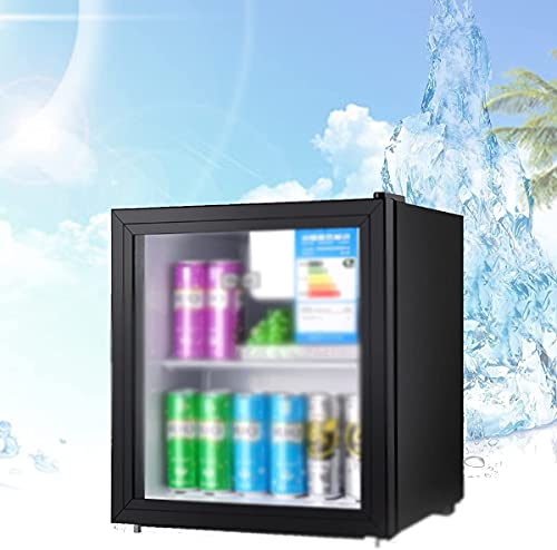 NFRMJMR Inicio Beber refrigerador de vino con mango oculto, mini cervezas frutas refrigeradoras con capas de doble capa Puerta de vidrio aislada, ajuste de temperatura inteligente de cinco velocidades