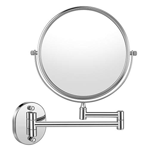 Cozzine Makeup Mirror Wall Mounted with 10X Magnifying, Two Side Vanity Extendable -