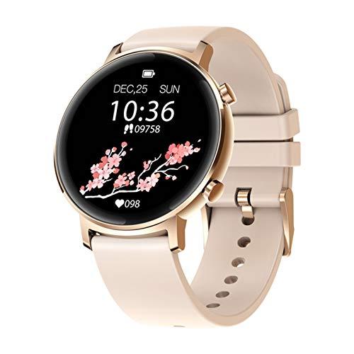 QAK Versión Global Original Reloj para Mujer Bluetooth 42Mm 5Atm Waterproof Smartwatch 12 Días Control De Música De Batería (para Android iOS),C
