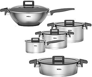Woll Lot de 5 casseroles et 1 wok avec couvercle Concept
