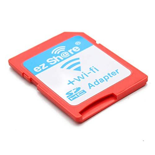 DUBENS WiFi WLAN SD Speicherkarten Adapter Wifi Micro SD Kartenleser, Wireless-TV auf SDHC SD-Speicherkartenadapter, SD Adapter verfügbar für DC/DV/DSLR/DPF, etc Speicherkarte