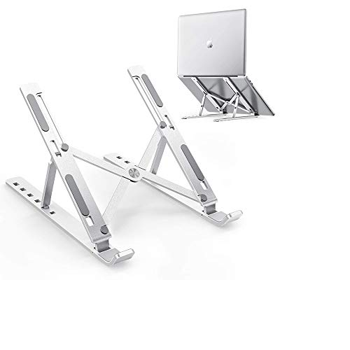 Laptop Stand Full Aluminium Computer Holder Portable Ventilated Desktop Laptop Holder Compatible with Apple MacBook, Air iPad Notebooks &Tablets
