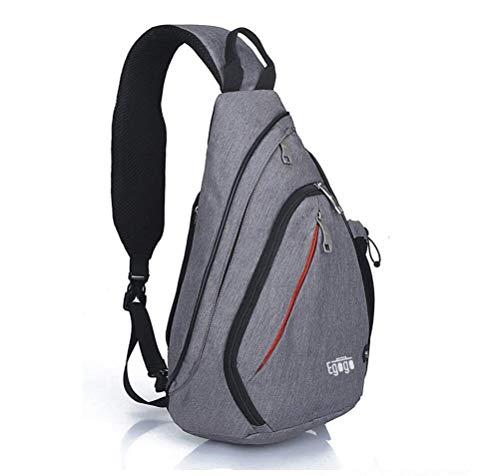 EGOGO Multifunktions Schultertasche Rucksack Crossbody Tasche Sling Tasche Wandern Dackpack EIN sollte Schultergurt für Männer und Frauen E300-4 (Dark Grey)