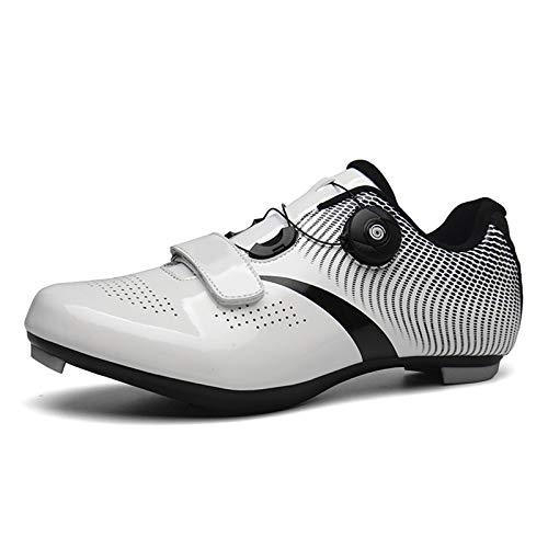 Zapatillas de Ciclismo de Carretera Hombre Mujer, con SPD y Delta para Hombre Zapatillas con Pedal de Bloqueo,39