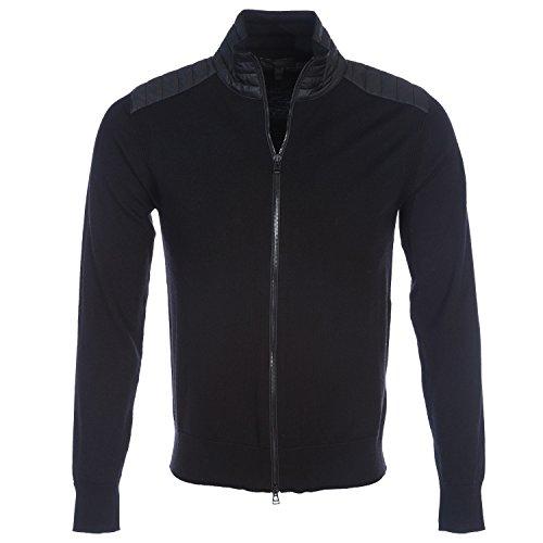 Belstaff Herren Merino-Wolle Kelby Reißverschluss Cardigan XL Black